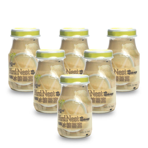 Healthee Bird's Nest Soup - Organic Sugar - 6 bottles x 70 ml (2.4 oz.) Bird's Nest Soups & Drinks vendor-unknown