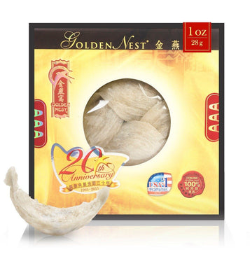 White Bird's Nest AAA - 28 Grams (1 Oz.) Edible Bird's Nest GOLDEN NEST