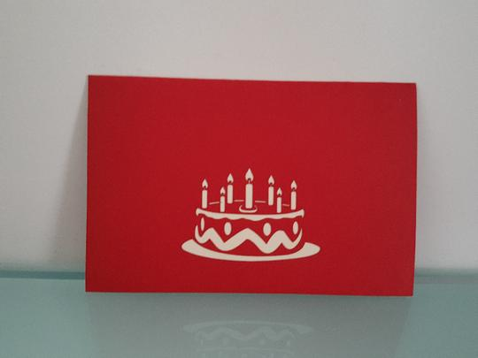 Pop Up Cards - Birthday Cake /OUT OF STOCK