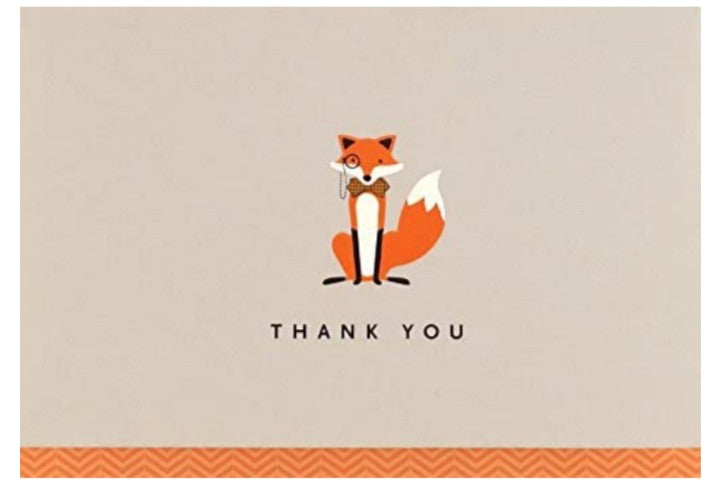 Thank You Notecards - Dapper Fox