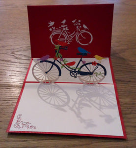 Pop Up Card - Birds on a Bike