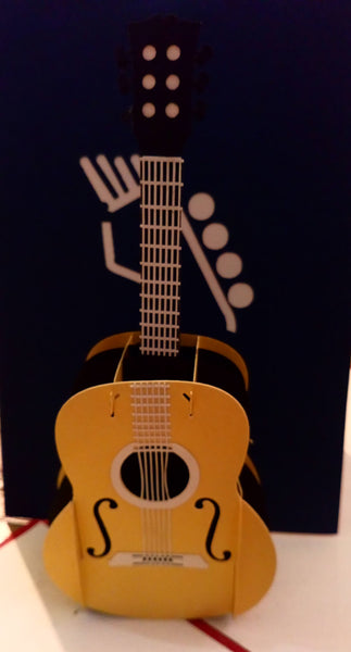 Pop Up Card - Guitar