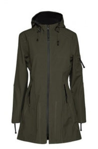 Ilse Jacobsen 3/4 Raincoat - Army Green