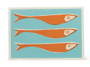Pack of 10 Cards - Orange Fish