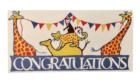 Greeting Card - ' Congratulations'