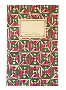 Hardback Notebook - Kaleidoscope Pink & Green