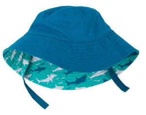 Hatley Sun Hat - Toothy Sharks. TO CLEAR.