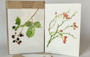 Kilcoe Studios - 6 Blank Greeting cards 'The Wild Edible Collection'