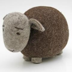 Natural Wool Sheep (Brown)