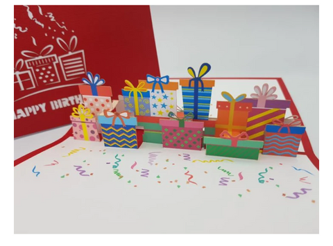 Pop Up Card - Happy Birthday Presents