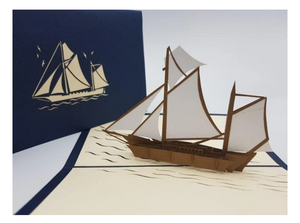 Pop Up Card - Sailing Boat