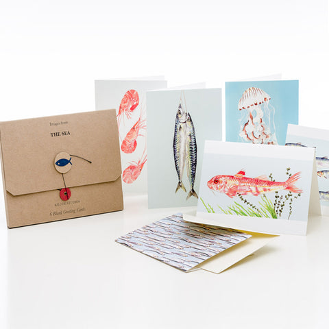 6 Pk Greeting Cards by Kilo Studios – The Sea- OUT OF STOCK