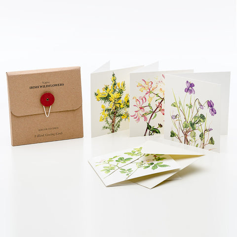 6 Pk Greeting Cards by Kilo Studios – Irish Wildflowers -OUT OF STOCK