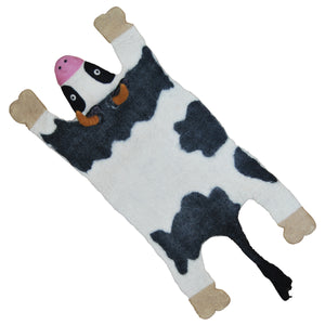 Klippan Cow Hand Felted Wool Animal Rug