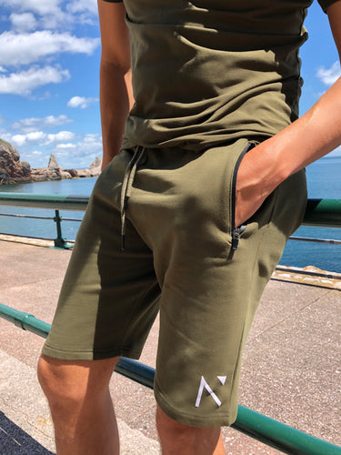 Khaki Signature 'N' Shorts
