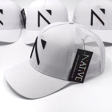 The White Signature 'N' Mesh Trucker Cap