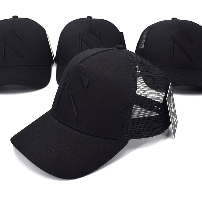 The All Black Signature 'N' Mesh Trucker Cap