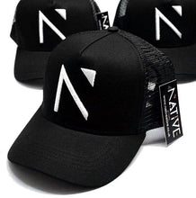 The Black Signature 'N' Mesh Trucker Cap