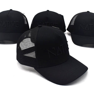 The All Black Native Mesh Trucker Cap
