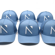 The Sky blue Signature 'N' Mesh Trucker Cap