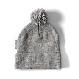 Grey Signature 'N' bobble hat
