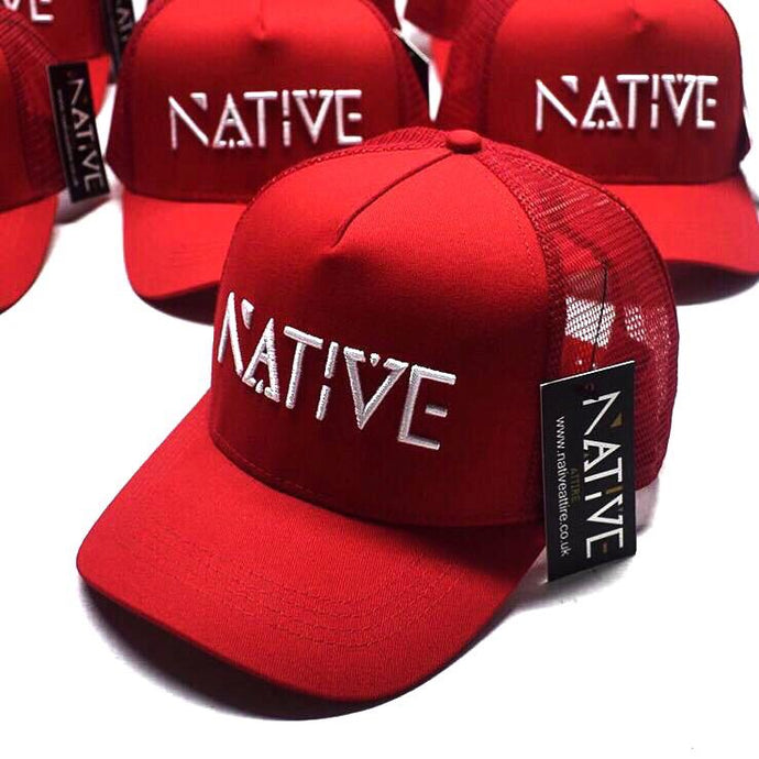 The Red Native  Mesh Trucker cap