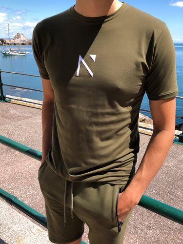 Khaki Signature 'N' T-shirt
