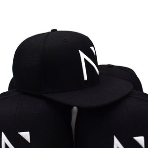 The Black and white Signature 'N' SnapBack