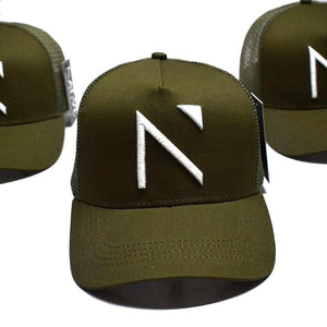 The Khaki Signature 'N' Mesh Trucker Cap