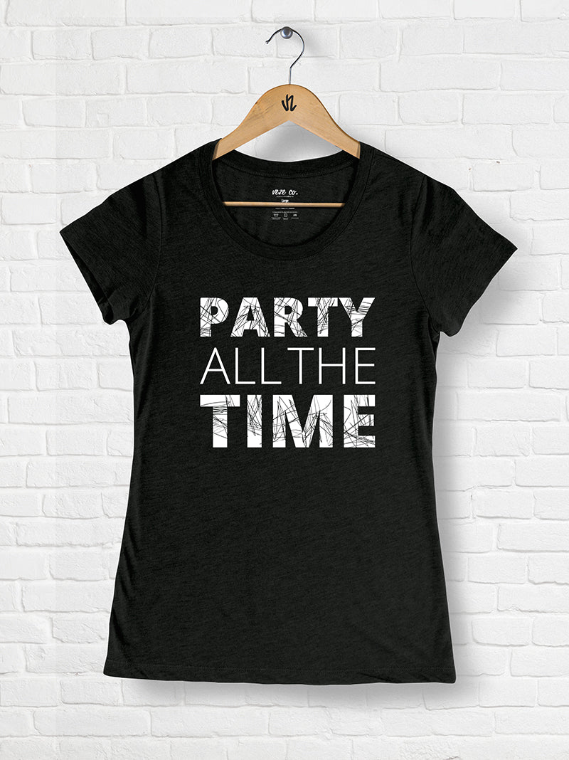 Party All The Time - Tri-blend Scoop Neck