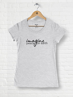 Imagine Peace On Earth - Tri-blend Scoop Neck