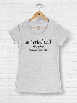 Cried Wolf - Tri-blend Scoop Neck