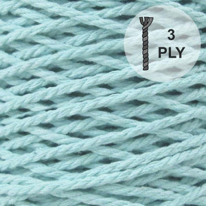 "Fil à macramé 3PLY 4 mm/160 m, ""Mint"" - 500 gr"