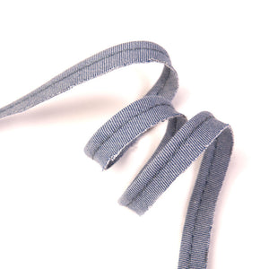 Passepoil chambray denim | 10 cm