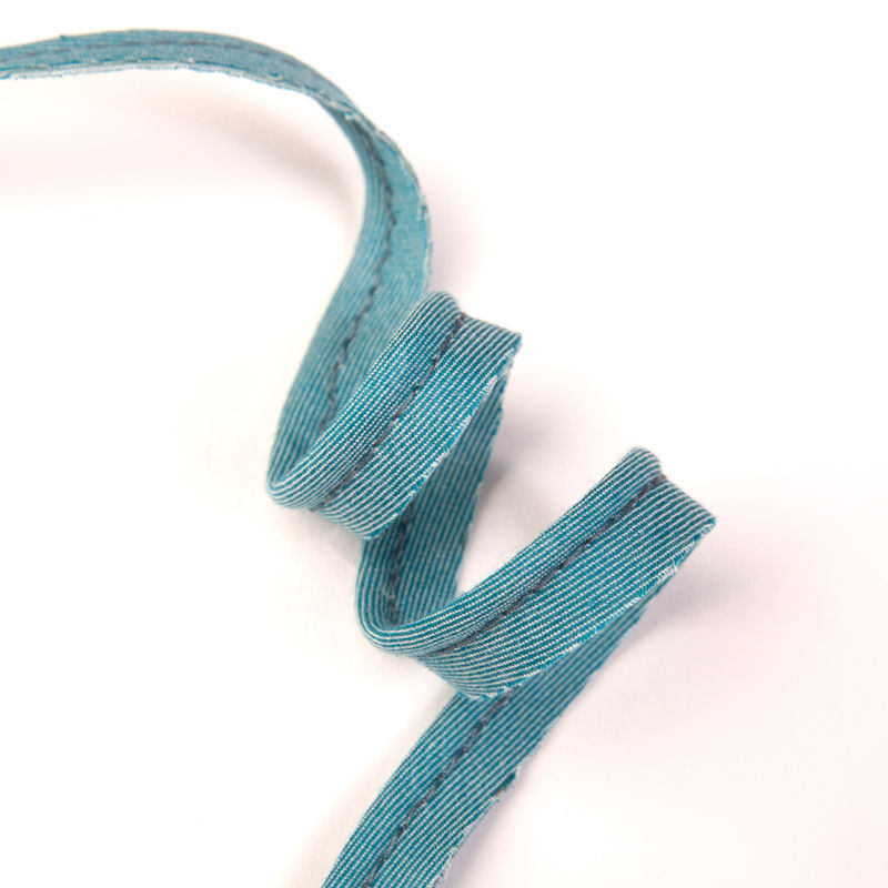Passepoil chambray turquoise | 10 cm