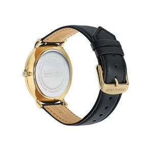 The Minimalist - Ebony/Gold/Black Leather Band ...