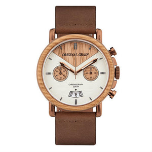 The Alterra Chronograph - WHISKEY LEATHER (Whis...