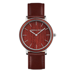 The Minimalist - Rosewood/Chrome/Brown Leather ...