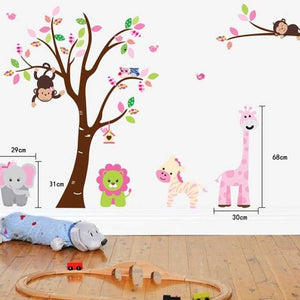 baby nursery tree wall decal girl nursery decal stickers art nursery animal decals for wall decor