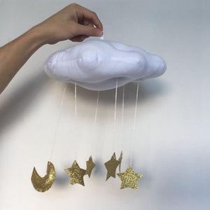Creative Hanging Decoration Cloud Cushion Moon Star Soft Children Toy for Kid's Room