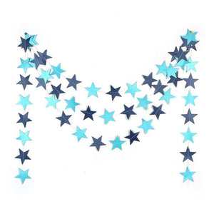 13ft Long Star String Paper Garland for Wedding Birthday Party Baby Shower Decoration
