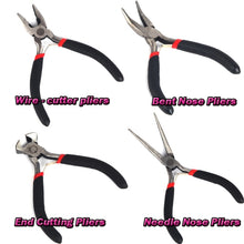 Jewellery Making Beading Mini Pliers Tools Kit Set Round Flat Long Nose