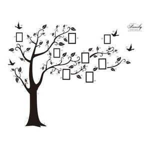 Large 250*180cm Photo Frame Tree Family Removable Art Vinyl Wall Stickers Decal