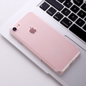 Apple Iphone7 Mobile Phone Shell Candy Real Color Matte Protective Cover Lens Protection 7plus Ultra - Thin Scrub TPU  For IPhon