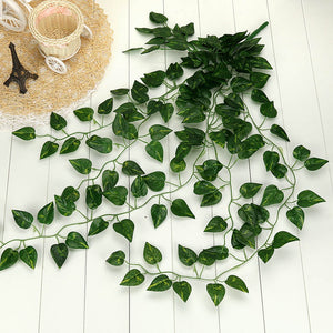 1Pcs Artificial Fake Hanging Vine Plant Leaves Garland Home Garden Wall Decoration Green Perfect Present