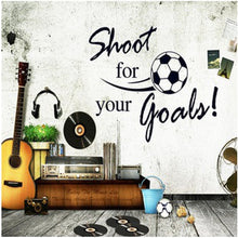 Soccer Ball Football PVC Wall Sticker shoot goal Decal Kids Room Decor Sport Boy Art Bedroom