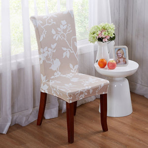 #17 Flower Elastic Dining Room Wedding Banquet Chair Cover Slipcover Home Decor Stylish