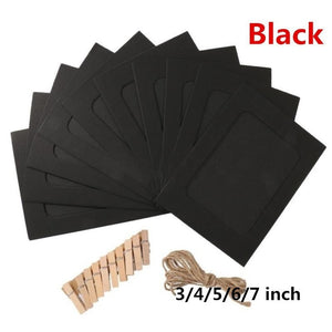 10 Pcs / Set Paper Photo DIY Wall Picture Hanging Frame Album Rope Clip Set Home Decor