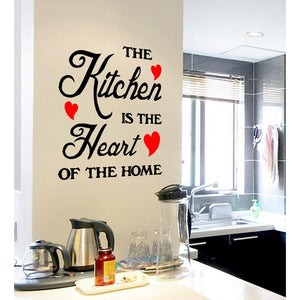 Beautiful Removable New The Kitchen Is The Heart Of The Home Wall Quote Sticker With Heart Hot Kitchen Decor