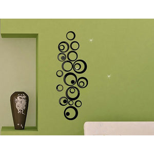 24pcs 3d Diy Home Decoration Wall Stick Decoration Mirror Wall Stickers Gift
